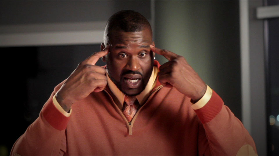 """""""Think about what I'm saying now, imagine that,"""" says Shaquille O'Neal in """"Ballerz."""""""